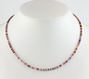 Sapphire Chain Gemstone Colourful Colour Facetted Rondelle Noble Necklace Gift
