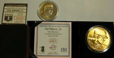 Highland Mint Cal Ripken Jr Baltimore Orioles Bronze Coin/Bronze Medallion Lot