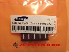 5pcs. Samsung LED for TV Edge Backlight (1W  6.2V  7mmx3.3mm  cool white)