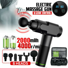 Upgrade 6 Speed 6 Heads Massage Gun Percussion Vibration Muscle Therapy Massager