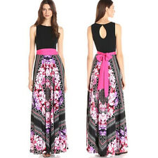 Women's Summer Beach Maxi Dress Sexy Floral Slim Party Sun Dress PLUS SIZE 8-24