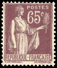 """FRANCE STAMP TIMBRE 284 """" PAIX 65 C VIOLET BRUN """" NEUF x TB"""