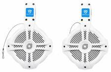 "Pair Rockville RWB65W 6.5"" White 2 Way 250 Watt Marine Wakeboard Tower Speakers"