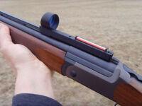 Hunting Red Dot Sight Red Fiber Holographic Scope Sight For  Shotgun Rib Rail