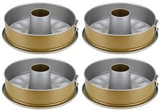Berndes Metal Bakeware - 4 Non-stick Springform Cake Tins with Funnel Inserts