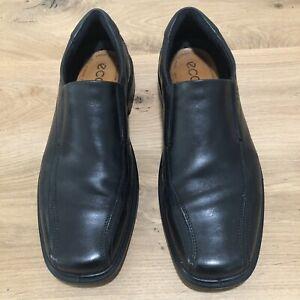 Men's Eccho Black Leather Slip On Shoes Size 47