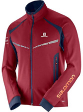 Salomon Men's RS Warm Jacket Medium Biking Red