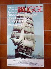 Ancienne affiche sncb 1985 Zeebrugge