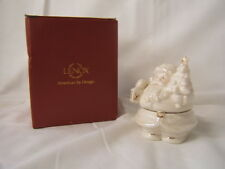 "Lenox Santa Covered Box 3"" Height x 2 1/2"" Width Mint in Box"