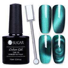 2Pcs UR SUGAR Nail UV Gel Polish Cat Eye Holographic Soak off W/ Magnetic Stick