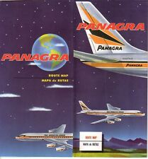 PANAGRA - 1965 ROUTE MAP FOLDED BROCHURE