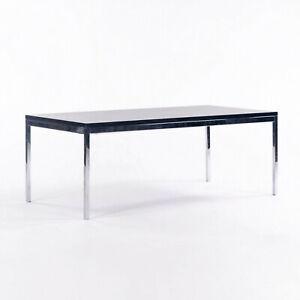 2012 Florence Knoll Ebonized Walnut and Chromed Steel 46 x 22 inch Coffee Table