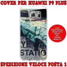 Cover case custodia protettiva in tpu per Huawei P9 PLUS fantasia AUTO VINTAGE
