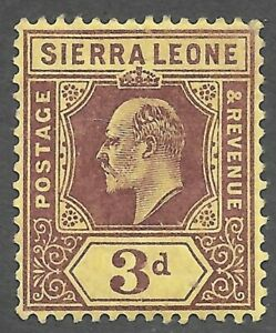 Sierra Leone (1907) - Scott # 95,   MH