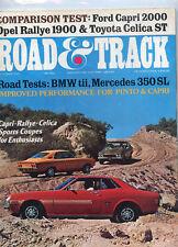 October 1971 Road & Track Magazine Capri-Rallye-Celica Cover