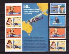 AUSTRALIA 1978 Trans-Pacific flight set + M/S MUH