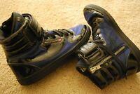 "Men's DIESEL ""Clawstrap"" Hi-Top Blue/Black Strap Fashion Sneakers (10)"