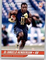 2017 Certified Cuts Silver Foil De'Angelo Henderson #d /99 Rookie RC NFL Broncos