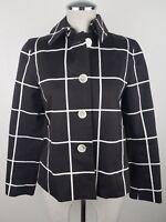 Lauren Ralph Lauren Women's Blazer Jacket sz P/P Black White Crop