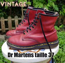 Docs Dr MARTENS taille 36.5/37 UK4 cuir rouge hermes 1460  (vintage MIE)