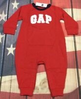 Baby Gap Boys 12-18 Months Red GAP Logo 1-piece Jumpsuit / Romper. Nwt