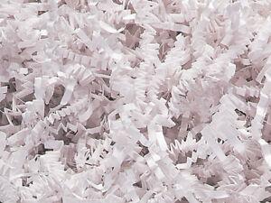 WHITE Gift Basket Shred / Grass - Paper, Eco friendly - 3 oz NEW