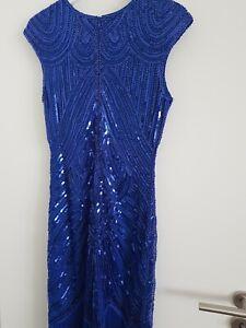1920 20er 30er Damen Jahre Charleston Kostüm Kleid Flapper Fransen Party Kleid