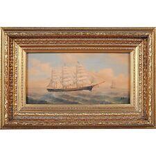 FTN030-SC077-2, Niagara Furniture, Fully Rigged Ship Scene, Oil Painting