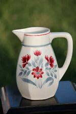 Lunéville Cruche pichet Herblay Shabby Chic Vintage French Ceramic Jug 40s