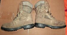 BRAHMA Suede Waterproof Hunting Boots Camo Camouflage Size 6.5 Men's Womens 8.5