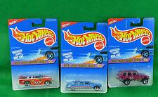 3 Hot Wheels Biff Bam Boom Series Mini Truck Limozeen Range Rover 541 544 1996