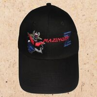 Mazinger Z & Logo Cap Cartoon Robot Great Kabuto Dr Hell Embroidered Black Hat