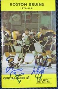 Vintage Autographed 1970-71 Boston Bruins NHL Media Guide Signed Hodge Cashman