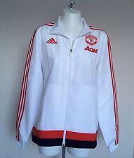 Manchester united blanc présentation veste par adidas taille garçons 7-8 ans