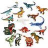 Dinosaur Badges Embroidered Iron on Patch Animal Emblems Child DIY Repair Logos