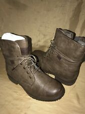 "6"" Spring Step LEATHER Women's Patrizia Fall Boot size 37 eur brown lace up"