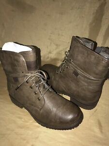 """6"""" Spring Step LEATHER Women's Patrizia Fall Boot size 37 eur brown lace up"""