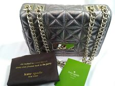 KATE SPADE Sedgewick Place Fairlee Mercury $428 Quilted Shoulder Bag Cross Body