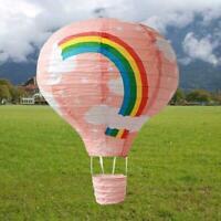 """12"""" Rainbow Hot Ballon Party Geburtstag Hochzeit Papierlaterne Deko Geschen N2Z9"""