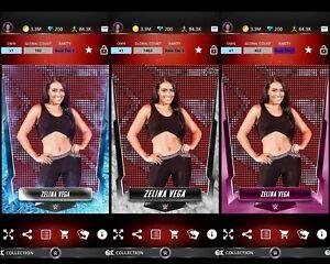 Topps WWE SLAM Digital 2019 Frost Marble & Pink Base Zelina Vega