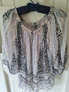 Hale Bob Sheer blouse top