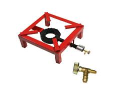 FORNELLONE FORNELLO A GAS 4 PIEDI 30x30CM - BRUCIATORE IN GHISA + UGELLO METANO