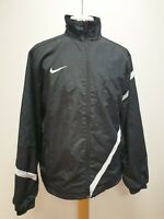 R872 MENS NIKE BLACK WHITE ZIPPED HELLAS VERONA FC SPORTS JACKET UK M EU 50