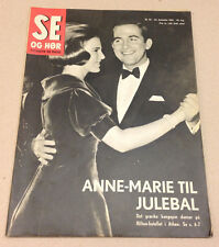 GREEK QUEEN ANNE-MARIE KING CONSTANTINE CHRISTMAS PARTY ON Danish Magazine 1965
