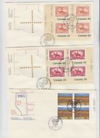 CANADA 9 UNADDR CACHET COVERS MULTIPLES #4 XF $$$$$$$