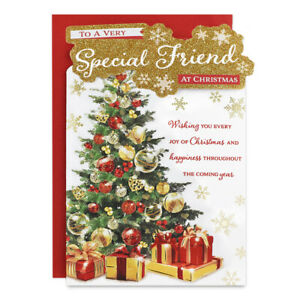 SPECIAL FRIEND CHRISTMAS CARD ~ TREE DESIGN - QUALITY CARD & LOVELY VERSE