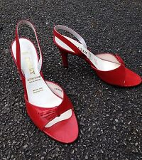 "Ladies Shoes. Heels, BALLY.  UK 6.5 Leather, Red, Design "" Garbo"""