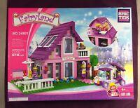 Brictek Fairyland Suburban House 576 Pcs 24801 Girl Themed Pink Purple Bricks