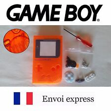 Coque GAME BOY fat original orange crystal NEUF + triwing - étui shell case