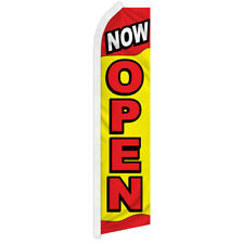Now Open Advertising Swooper Feather Flutter Flag Open Now Grand Opening